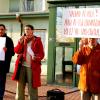 Protester mot stängning av vårdcentral i Malmö