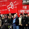 Manifestation mot det fascistiska våldet